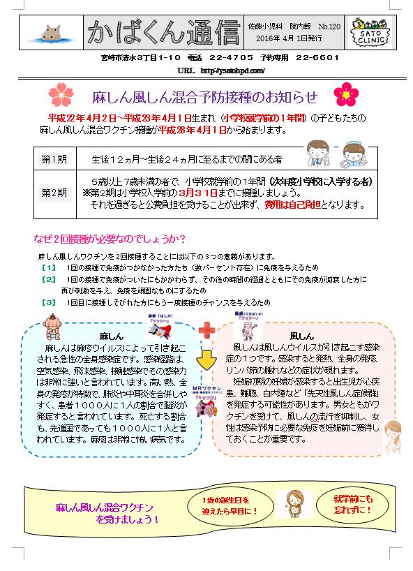 かばくん通信 院内報No.120(うら)
